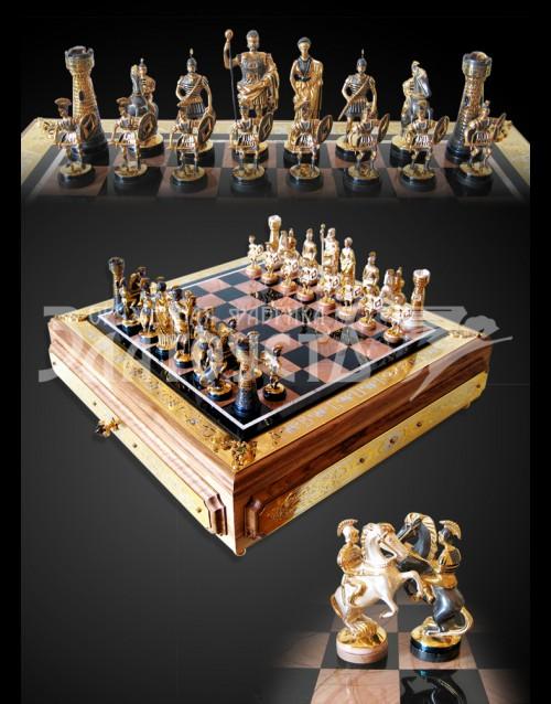 Серебряные шахматы «Римляне»